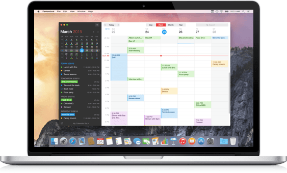 Calendar Design Mac : Flexibits fantastical for mac meet your s new