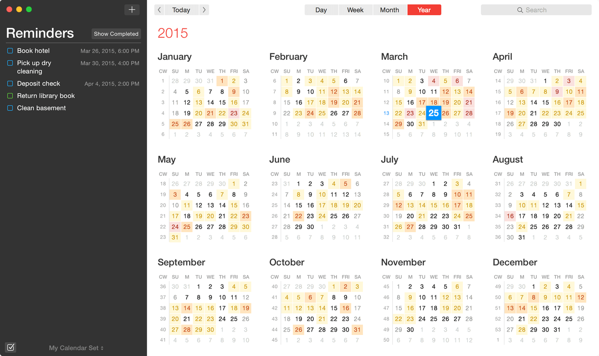 how to create new calendar colors on mac