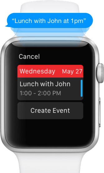 Fantastical 2 for Apple Watch event creation