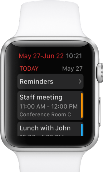 Fantastical 2 for Apple Watch event list